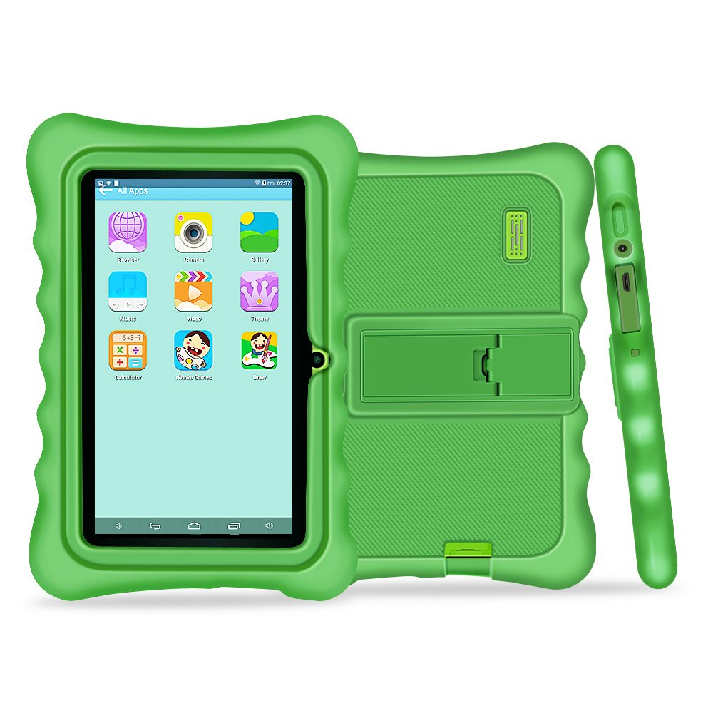 YUNTAB Q88H Kids Edition Tablet, 7'' Display, 8 GB, WiFi, Kids Software Pre-Installed, Premium Parent Control, Educational Game Apps (Green)