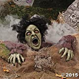 HALLOWEEN Decoration Prop CLAWING ZOMBIE GROUND BREAKER LED Eyes Sound