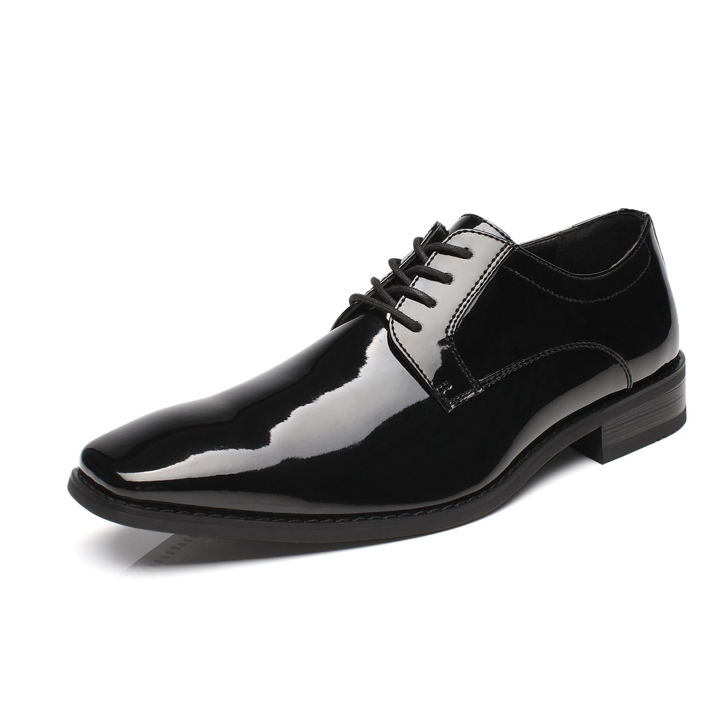 Faranzi Oxford Shoes for Men Patent Leather Plain Toe Tuxedo Oxford Mens Dress Shoes Zapatos de Hombre Lace Up Comfortable Classic Modern Formal Business Shoes by Faranzi