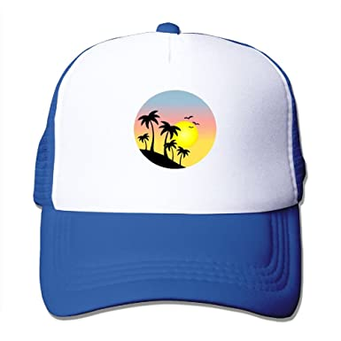 bb12b7f73c5 Image Unavailable. Image not available for. Color  Palm Tree Cotton Baseball  Cap Multi Colors,Dad Hat Palm Tree Women Men Cute Adjustable