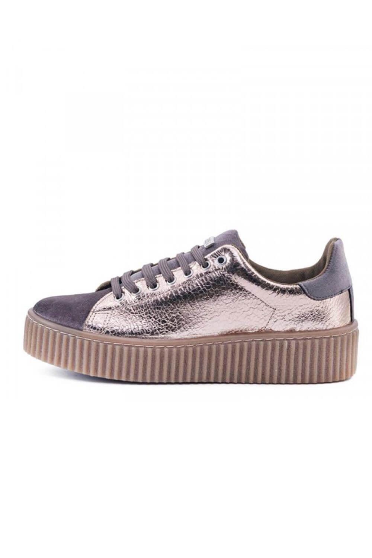 GUESS sneakers donna platform lamè TESSUTO BEIGE BRONZO FLDEN3LEL12 inverno 2018 41 EU|*