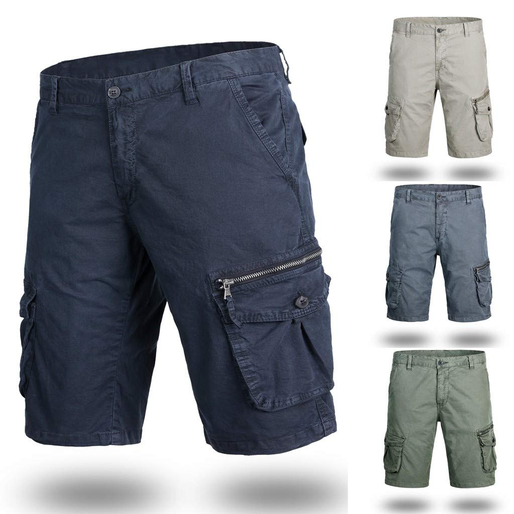 Mens Cargo Shorts,Donci Fashion Pocket Beach Work Casual Short Trouser Loose Comfortable Half Pants by Donci Pants (Image #4)