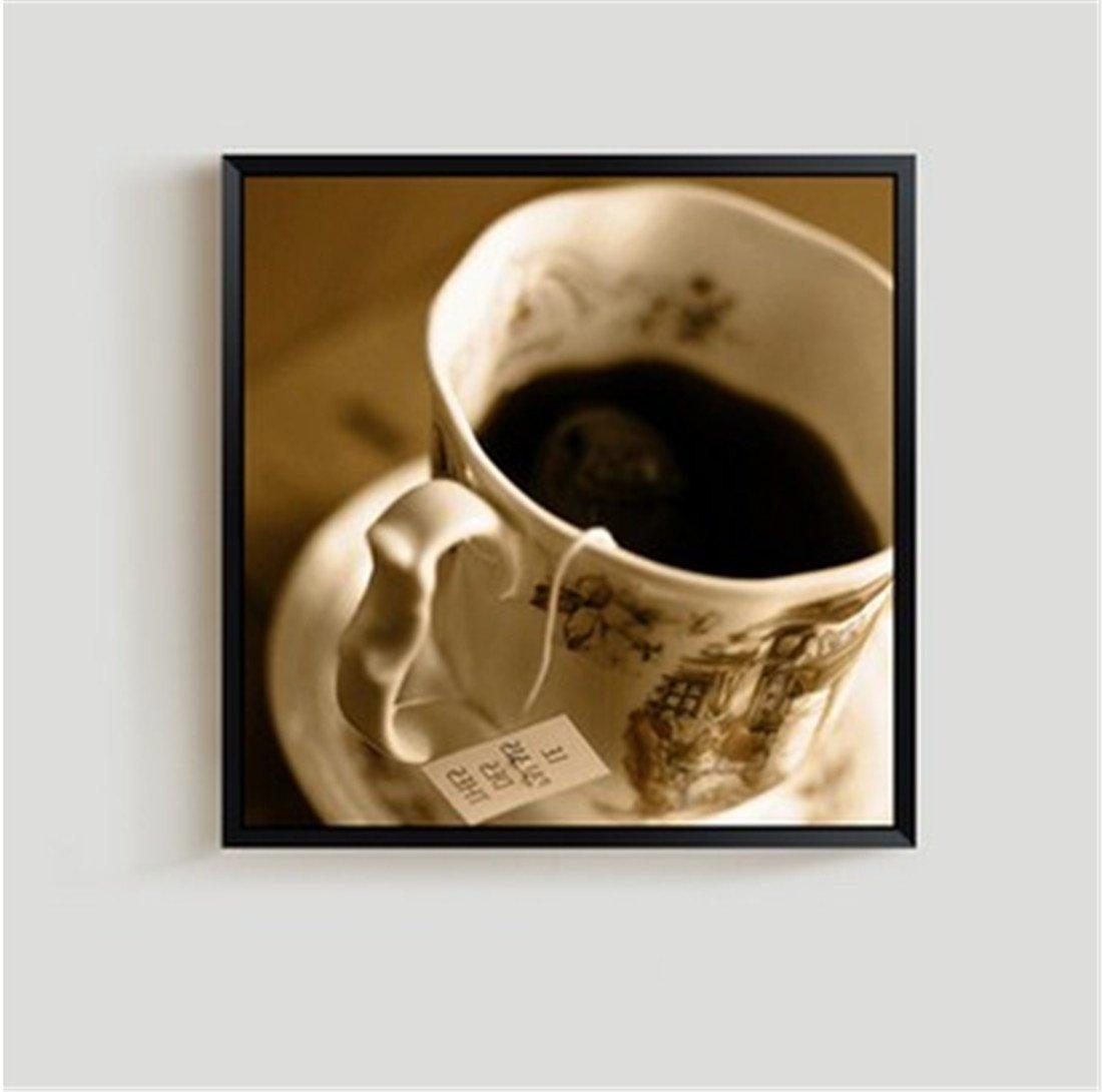 HONGLINordic Creativo Blanco Restaurante Pinturas Sala de Estar decoración Pintura Blanco Creativo y Negro Moderno tríptico sofá Fondo Pared café Fresco (40  40 cm), b 4341c8