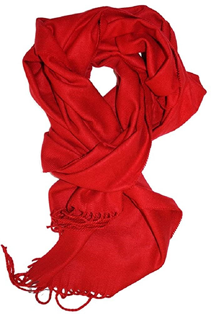 Veronz Super Soft Luxurious Rich Solid Colors Cashmere Feel Winter Scarf ver-solblk-681