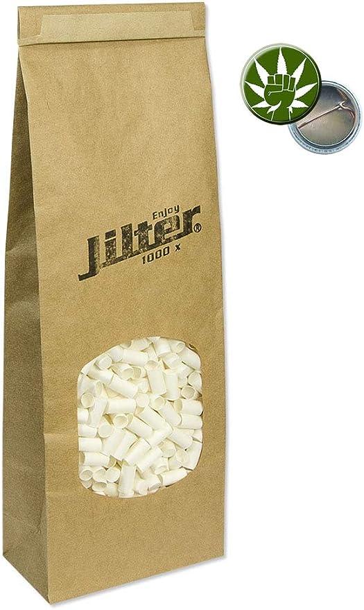 Jilter Filtertips Drehfilter 1000er Packung Eindrehfilter Filter Tips