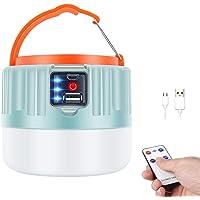 LENUMB Luz de Camping, Led Linterna Recargable USB, Lámpara Solar para Campamento Exterior con Power Bank - Impermeable…