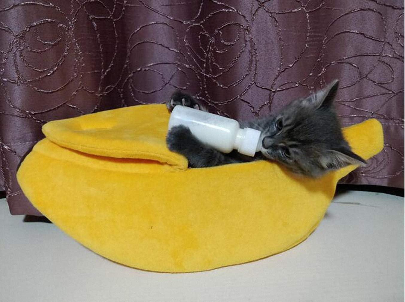 Suave Y C/ómoda para Mascotas Cuna para Gatos Mascotas Peque/ñas Mascota del Gato Cama Haolv Linda Cueva En Forma De Pl/átano