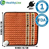 #5: HealthyLine Infrared Heating Pad (Soft)|Natural Amethyst, Jade, Obsidian & Tourmaline Ceramic (Small) 18″ x 18″ (European 220v) |Relieve Pain, Sore Muscles, Arthritis and Injury Recovery|US FDA