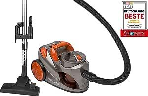 Bomann BS 9018 CB Aspiradora de trineo sin bolsa, eficiencia energética A, 700 W, 1.25 litros, 76 Decibelios, Plástico, Gris y naranja: Amazon.es: Hogar