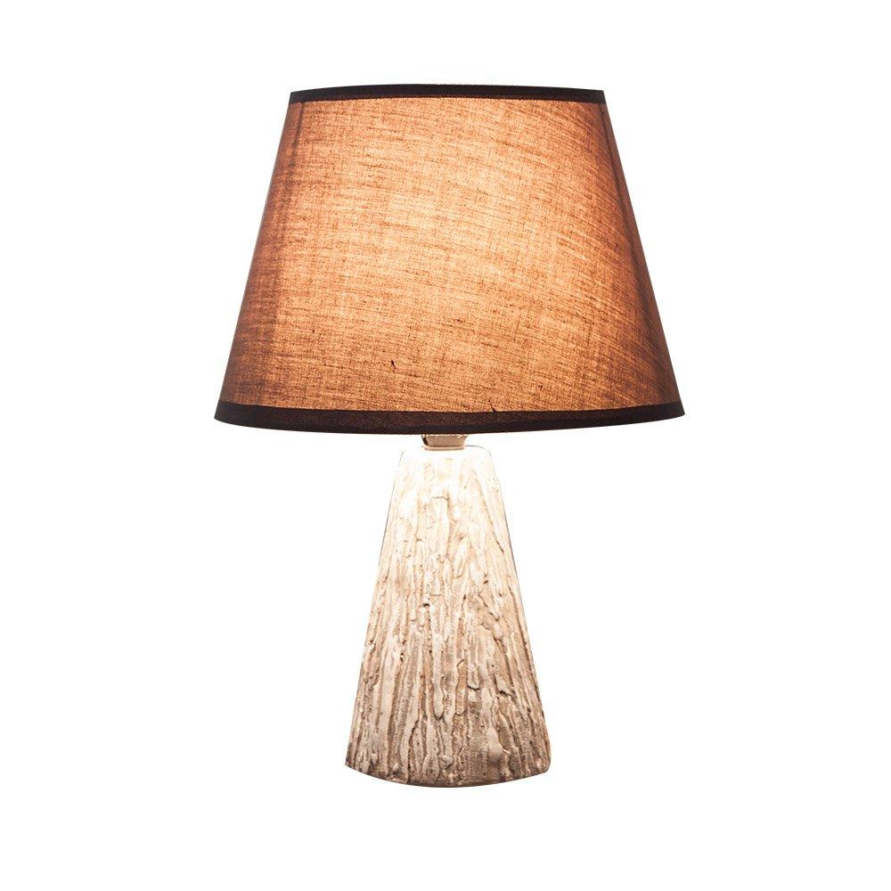Lámpara de Mesa SKC Simple Lighting Moderno Simple SKC Imitación Cerámica Creativa Textura De Madera Pequeña Lámpara De Los Niños Dormitorio Individual Estudio Sala Cama (Color : A) 325c7c
