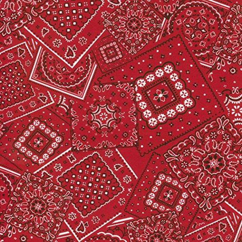 Red Bunk House Bandana Print, Western Basics, Moda, By the (Basic Bunk)
