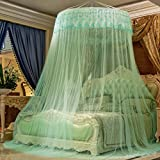 HUEHFUEGF Princess Wind Mosquito nets, European Style Hanging Bed Canopies Anti-Mosquitoes Castle Tent-C Queen1