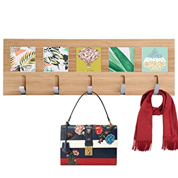 Amazoncom Wooden Floating Shelves Wall Coat Rack Shelf Wall