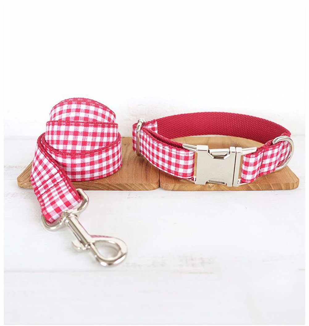 Red Small Red Small Collar for Dogs Easy to Wear Safe and Durable Personality Style Pet Collar Traction Rope XQ-02914