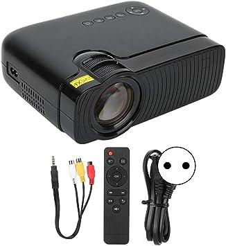 Opinión sobre gostcai Proyector LCD, Proyector de Cine en casa de Alta definición 1080P, Proyector LED Rojo y Azul 3D en Varios Idiomas, Compatible con USB/HD/SD/AV/VGA(Negro)