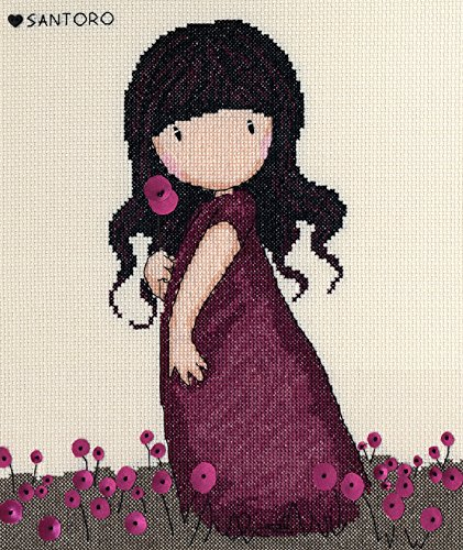 Bothy Threads Counted Cross Stitch Kit - Gorjuss - Pink Popp
