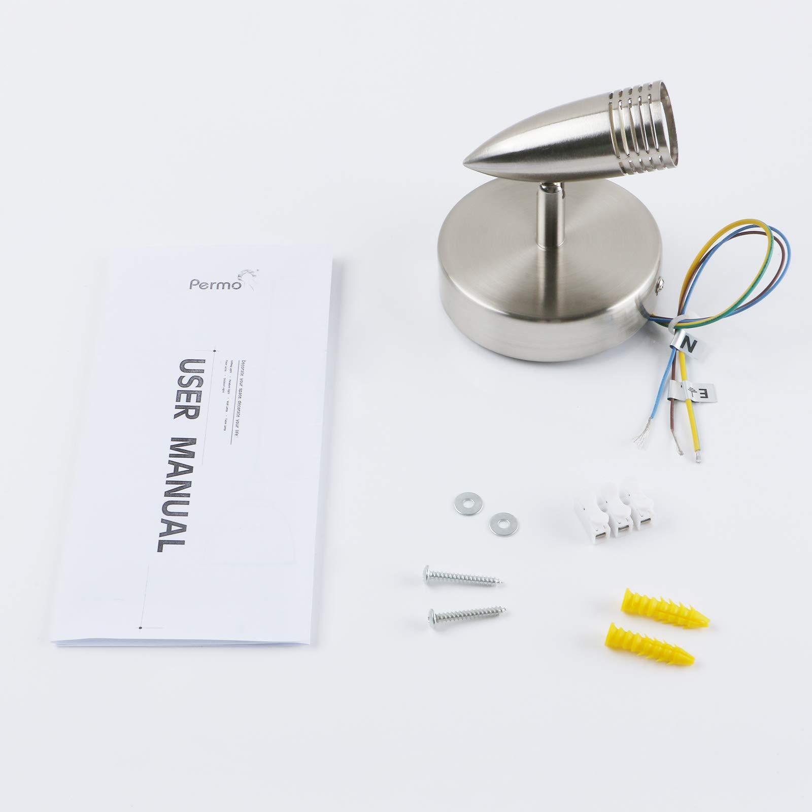 LED Ceiling Spot Light, Yosoan Brushed Portable Modern Mini Spotlight Adjustable Bullet Lamp for Mall Bar Coffee Bathroom Dressing Room Hallway (2-Head)