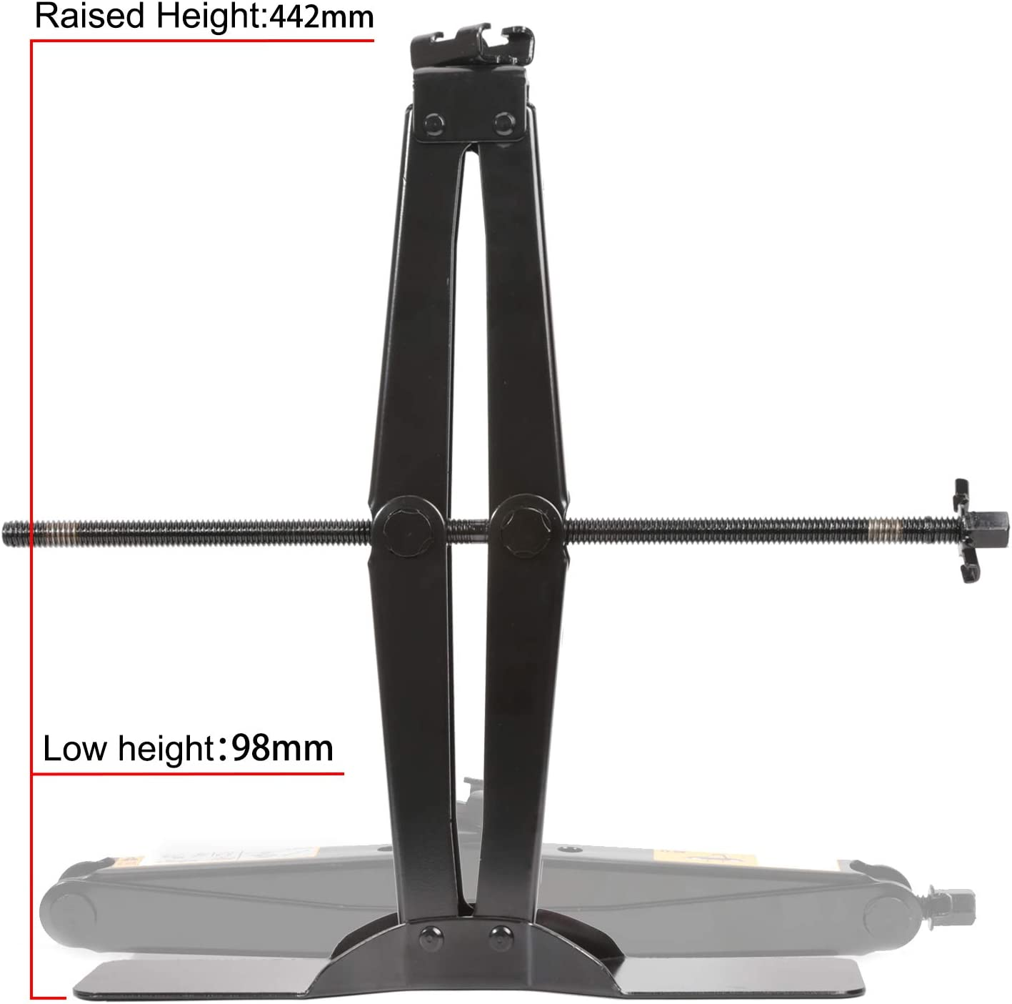 5511lbs It Can Be Used With Electric Drill LEADSTAND Scissor Jack is 2.5 tons Suitable for Cars and Sports Utility Vehicles. Labor-saving Design Thickened Steel Plate Enlarged Bottom