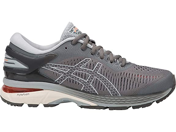 ASICS Women's Gel-Kayano 25 Running Shoes, 5M, Carbon/MID Grey