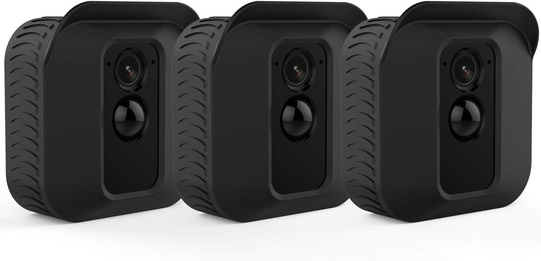 Silikon Schutzhülle Für Blink Xt2 Xt Kamera Uv Beständig Kratzfest Für Den Gesamten Schutz Für Innen Und Außenbereich Schwarz 3 Stück Elektronik