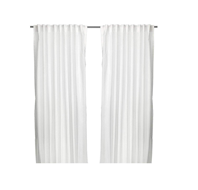 Ikea Vivian - 2 Tende scorrevoli con bordo ad asola, 300 x 145 cm, colore: bianco 301-120-01