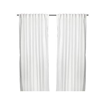 Unbekannt Lot de 2 rideaux Vivian IKEA - Blancs - 300 x 145 cm ...