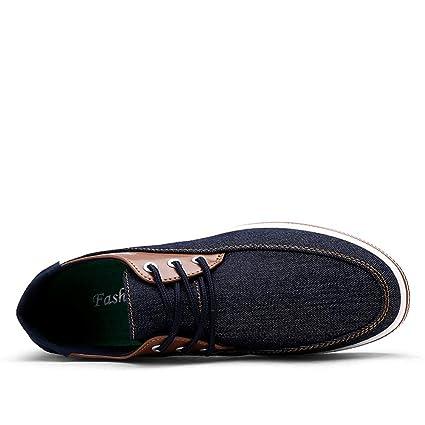 Qiusa Zapatillas de Lona con Cordones para Hombres Alpargatas con Suelas Suaves Alpargatas sin Cordones (