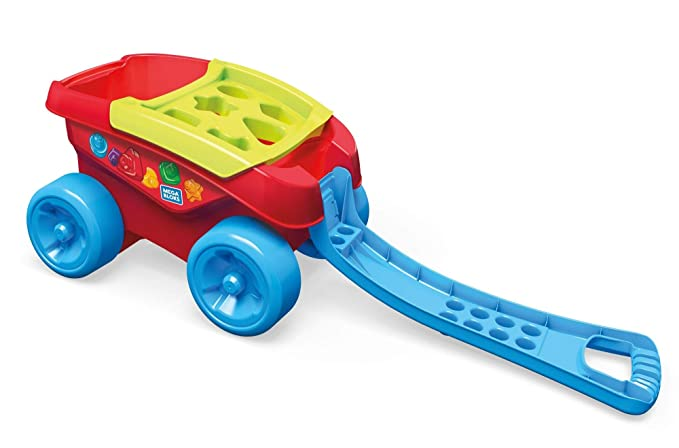 Mega Bloks Carrito Encajabloques, juguete de construcción para bebé +1 año (Mattel FVJ47): Amazon.es: Juguetes y juegos