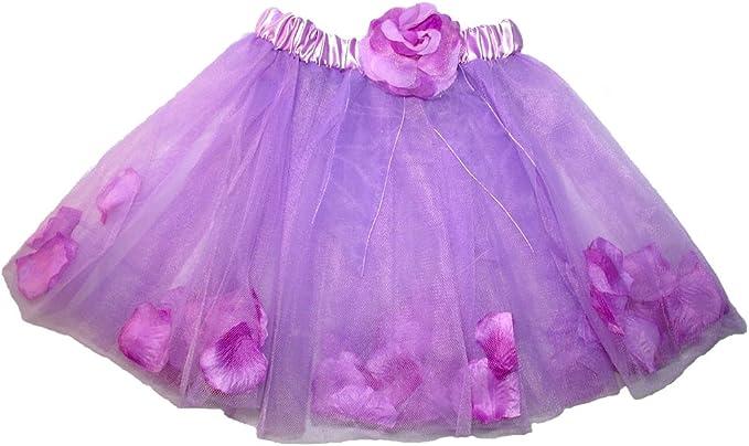 Falda de Tul Flora con pétalos de Flor para niñas - Tutú Enagua ...