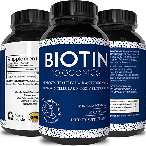 Pure Biotin Supplement 10000mcg Vegetarian product image