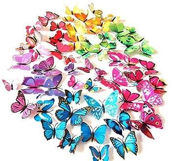 Amazon Com Livegallery 72 Pcs 6 Colors Removable 3d Diy Beautiful
