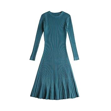 ebd356197ac SHUCHANGLE Robe Pull Robe Pull d hiver Les Femmes Tricotées Slim Pull  Vêtements O-