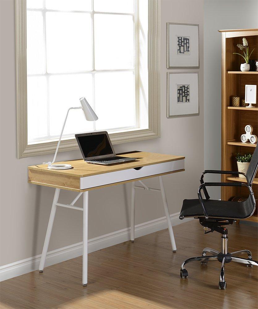 Techni Mobili Modern Computer Desk with Storage, Pine - Buy Techni ...