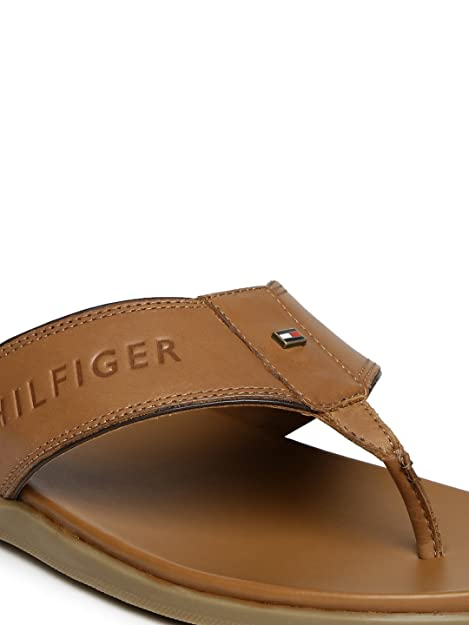 2950be984 Tommy Hilfiger Men Brown Leather Sandals (10UK)  Buy Online at Low Prices  in India - Amazon.in