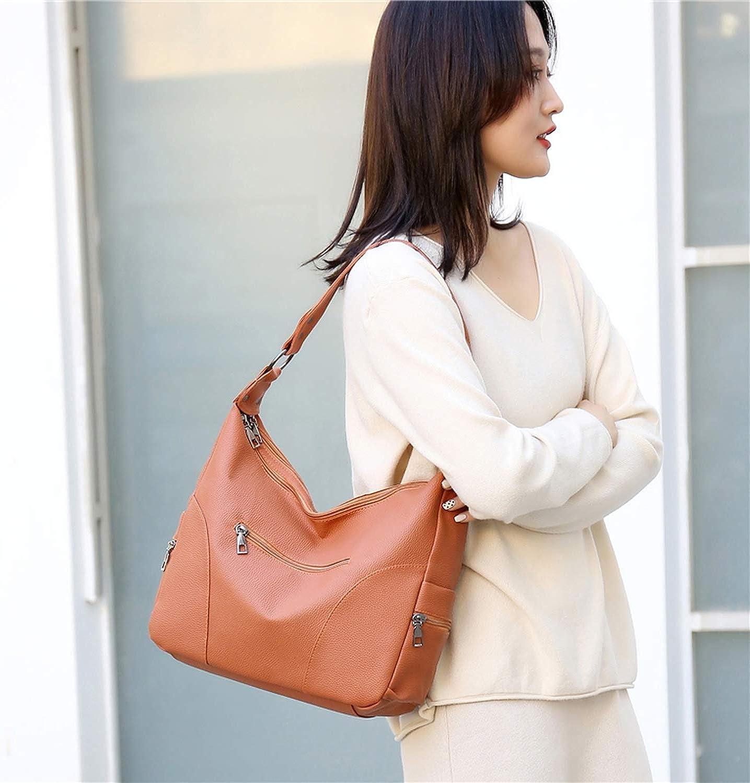 Ladies Shoulder Bag Women Handbag Hobo Tote Bag PU Leather Bags Sac a Main,Blue