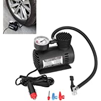 RUMPES Portable Electric Mini DC 12V Air Compressor Pump for Car and Bike Tyre Tire Inflator car, Bike, tubeless tyre 12V 300 PSI air Pump for Bicycle, Football, Basketball