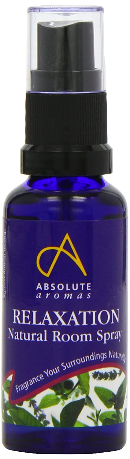 Absolute Aromas Natural Relaxation Room Spray 30ml with Bergamot, Lavender, Vetiver, and Petitgrain Essential Oils - Spray before bed to help relax the body and mind Absolute Aromas Ltd 68251 AA-HF468