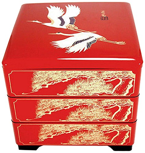 (JapanBargain 4118 Bento Box, Regular, RedCrane)