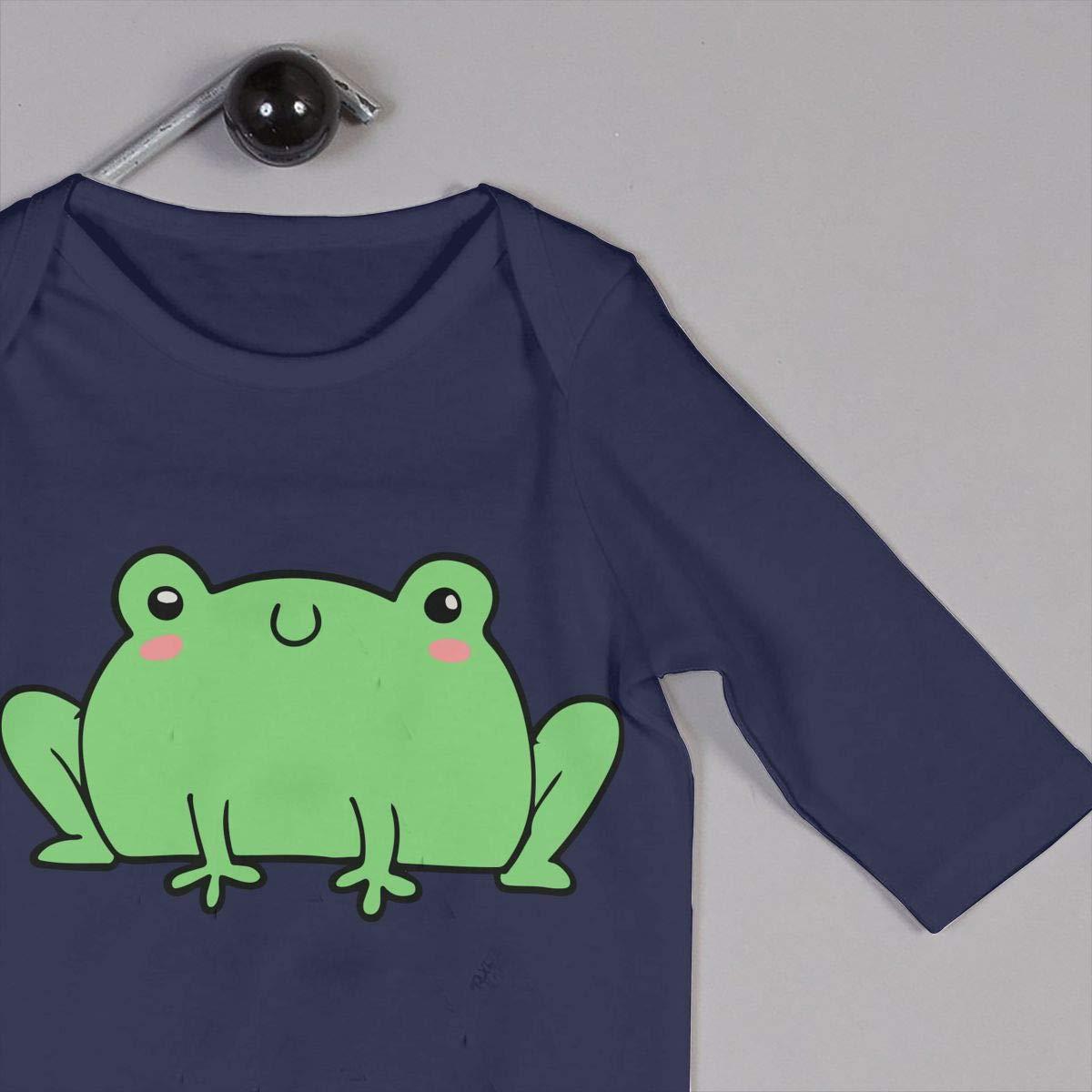 Mri-le1 Newborn Kids Jumpsuit Cute Happy Frog Kid Pajamas