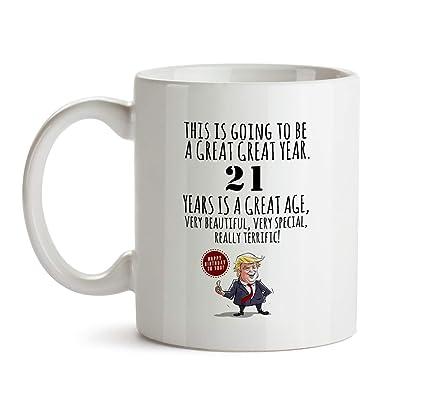 21st Happy Birthday Gift Mug
