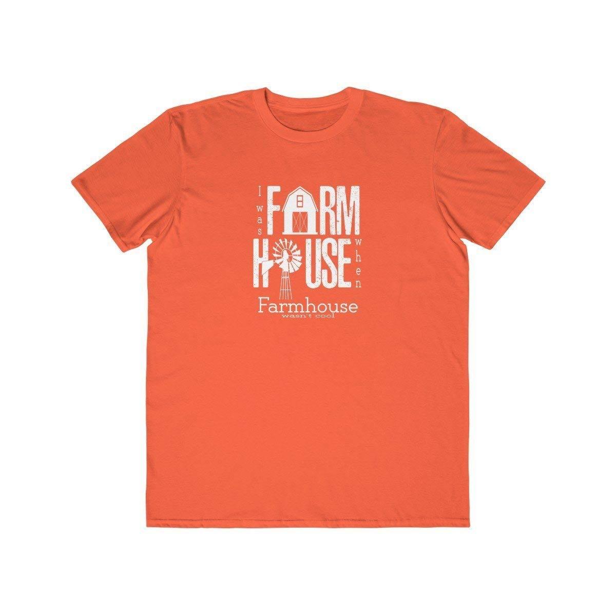 TXRepublic Farmhouse Mens Lightweight Fashion Tee Orange