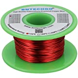 """BNTECHGO 20 AWG Magnet Wire - Enameled Copper Wire - Enameled Magnet Winding Wire - 4 oz - 0.0315"""" Diameter 1 Spool Coil Red"""
