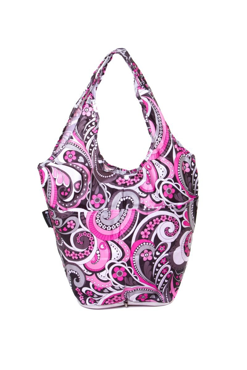 Pink Paisley Fold Away Mini Shopper Very Lovely Bags Co