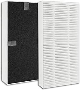 GHM 2 Pack Compatible Febreze FRF102B HEPA Replacement Filter for Honeywell U Filter HRF201B, Honeywell HHT270W & HHT290 Series & Febreze air Purifier Models FHT170W, FHT180W, FHT190W