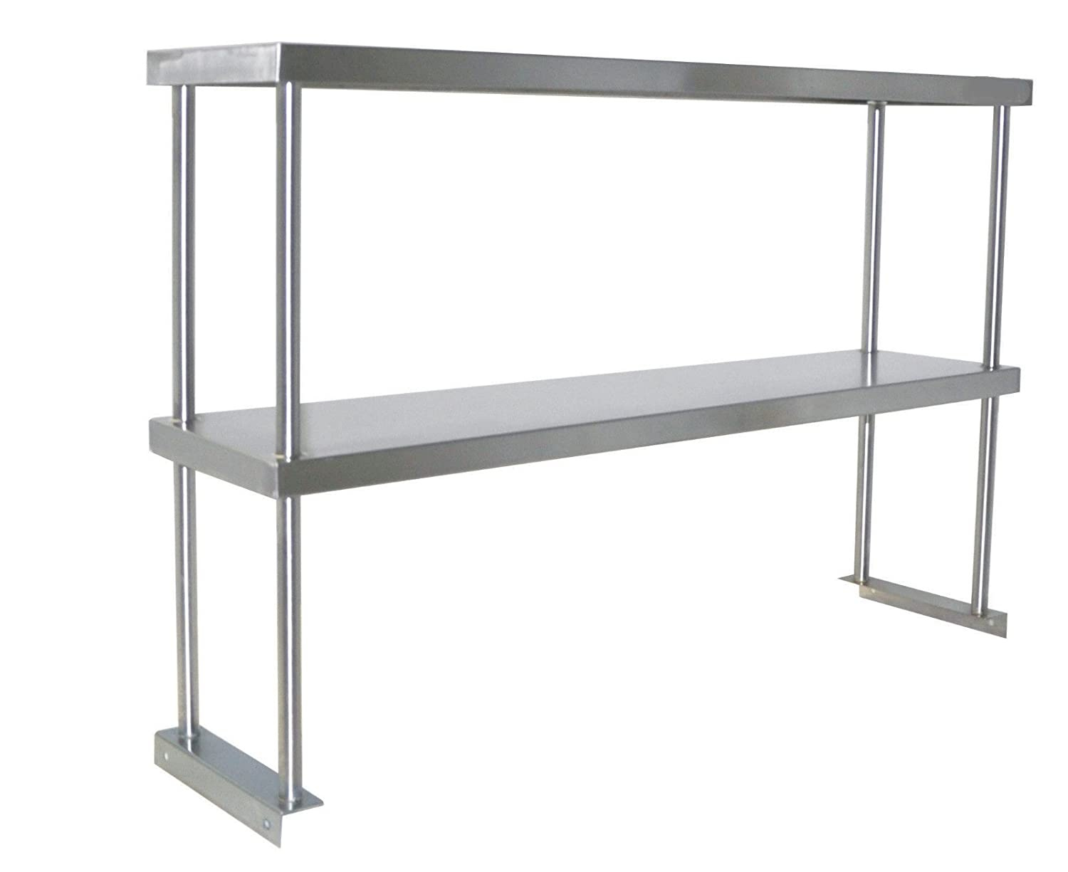 Amazon.com: Adjustable Double Overshelf 14 X 48 - Stainless Steel ...