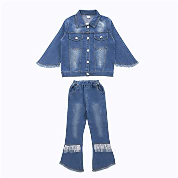 the best attitude 3fc06 945b0 Set di abbigliamento per bambini, Giacca e jeans for ragazze ...