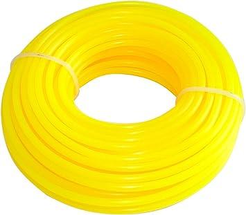 AERZETIX: Hilo de nylon perfil redondo 3mm 15m para desbrozadora C18550: Amazon.es: Bricolaje y herramientas