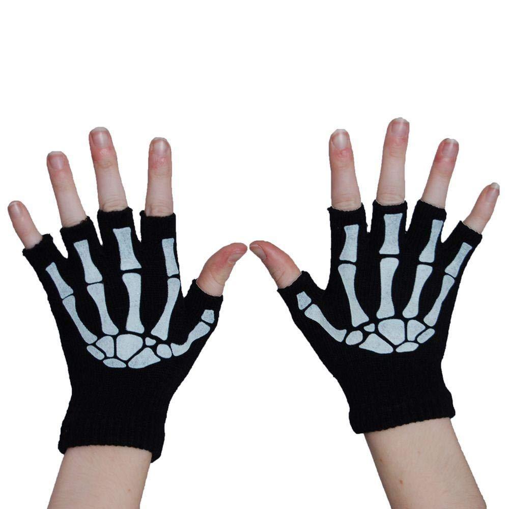 堅実な究極の Poizen Industries スケルトン手袋 指なし骨 Industries B07HR1NHJ2 B07HR1NHJ2 ホワイト/ブラック, ウスダマチ:87fd639d --- arianechie.dominiotemporario.com