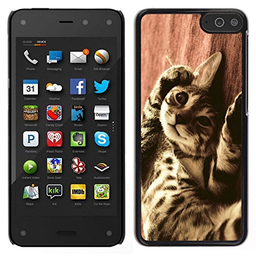Smartphone Hard PC Case Protective Cover for Amazon Fire Phone / Phone Case TECELL Store / Bengal Serengeti Ocicat Savannah Cat