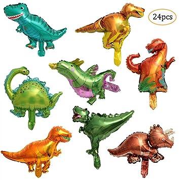 REYOK Globos de Helio Dinosaur Globos,16Pcs Mini Dinosaur ...